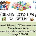 Loto samedi 25 mars à 20h00 au foyer rural de Cormeilles en Vexin